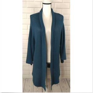 Chicos 3 Bistro Aviator Cardigan Duster NWT